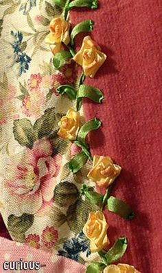 In this lesson, learn the simple steps to creating miniature roses using silk embroidery ribbon. Silk Ribbon Embroidery, Cross Stitch Embroidery, Hand Embroidery, Sewing Ideas, Sewing Crafts, Diy Crafts, Ribbon Projects, Ribbon Rose, Dmc