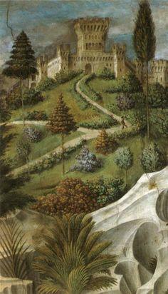 BENOZZO GOZZOLI - Il viaggio dei Magi (part.) - affresco - 1459-1461 - Cappella dei Magi - Palazzo Medici Riccardi Firenze