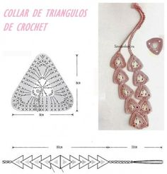 Collar vincha de triangulos crochet modelo y patron