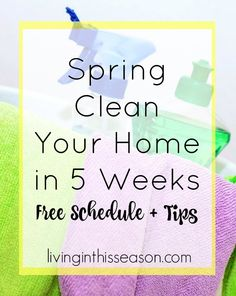 Get your home cleaned in only 5 weeks- perfect for stay at home and working moms!