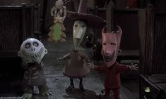 "lock, shock, and barrel from ""the nightmare before christmas"""