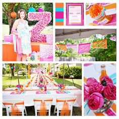 Bright Summer Colors for a Girl Baby Shower