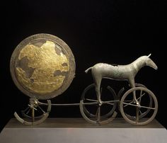 The Chariot of the Sun. Trundholm, Zealand. Early Bronze Age, 14th century BC. Bronze and gold.  95 x 60 x 25cm. The National Museum of Denmark