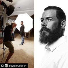 Image by @paytonruddock | Y'all seem to like seeing the #behindthescenes to how I create some of my shots. Here is a quick side by side to show you the setup and the final product. Enjoy! #BTS #photography #photoshoot #photographer #portraitshoot #portrait #portraiture #famousbtsmag #iso1200 #iso1200magazine #profotoglobal #profoto #tethertools #tether #phaseone #mediumformat #mamiya #captureone #elinchrom #rotalux