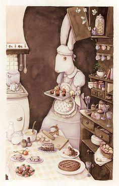 in the kitchen by Simona Cordero