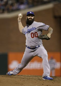 Brian Wilson, the first number 00 in Dodgers history.