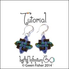 TUTORIAL Beaded Celtic Knot Earrings and Other by gwenbeads