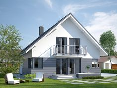 Home Design Plans, Home Interior Design, Cabin House Plans, Architectural House Plans, Best Tiny House, Small House Design, Facade House, Cabin Homes, Home Fashion
