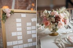 Classic shades of pink and coral flowers - Wedding by True Event - custom products from www.tiethatbindsweddings.com