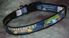 Adjustable Dog Collar from recycled Sierra Nevada Summerfest Crisp Lager Beer Labels by squigglechick on Etsy