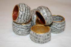 Anillos de papel mache de Maru Pacheco