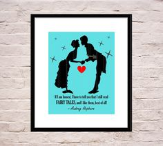 Audrey Hepburn Wall Art Audrey Hepburn Quote Fairy by LavenderArte