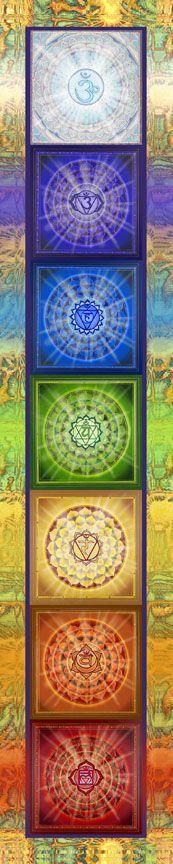 ૐ Chakras Escala de Luz ૐ Chakra Ladder Light - Paul Heussenstamm Chakra Meditation, Kundalini Yoga, Chakra Healing, Reiki, Chakra Images, Chakra Chart, Namaste Yoga, Yoga Art, Art For Art Sake