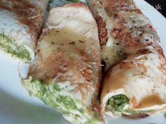 Recept na chutné špenátové palacinky, ktoré sú zapečené v rúre :) Fresh Rolls, Food And Drink, Vegetables, Ethnic Recipes, Lifestyle, Vegetable Recipes, Veggies