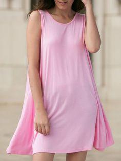 pink tank dress| $9.65  kawaii pastel fairy kei hipster harajuku fachin dress tank dress top under10 under20 under30 sammydress