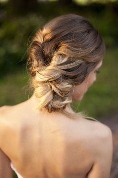 Twisted ombre updo