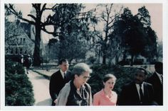Soror Joan T. Mulholland walking with Dr. Martin Luther King - Tougaloo, MS.
