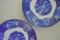 Flow Blue Transferware Plate 1830's, Malta, Franz Mehlem, Bonn Germany (B)    just one, six inches white perfect!