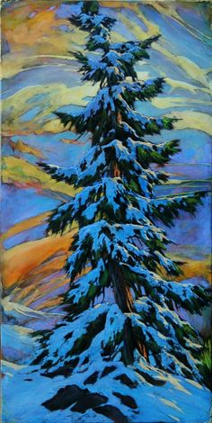 40 Simply Amazing Winter Painting Ideas - Her Canvas Snowy Trees, Winter Trees, Winter Art, Winter Landscape, Landscape Art, Landscape Paintings, Landscapes, Tree Paintings, Acrylic Paintings