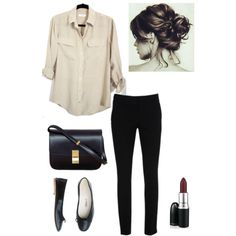 Silk shirt by trenchcoatandcoffee on Polyvore featuring Warehouse, Toast, Equipment and CÉLINE
