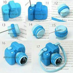 Blue camera clay tuto 2 of 2
