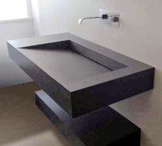Bathroom washbasin and sink Bathroom Sink Design, Bathroom Drain, Restroom Design, Bathroom Vanity Tops, Bathroom Hardware, Bathroom Interior Design, Modern Bathroom, Small Bathroom, Lavabo Design
