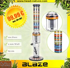 The #Blaze Totem is a high-end #bong made by blaze glass with all the features that a modern bonghead can expect from his loyal companion. An effective 10-fold tree perc ensures in conjunction with the freezer and the Slot Hole Diffuser for solid smoke mitigation. The 5 MM Wall Thickness forgives so many stroke and the grip on the head allows the popular lift-off in closed #kickhole  #bongsport #fourtwenty #icebong