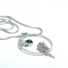 Silver pendant, water casted. Part of the 'Organic' collection