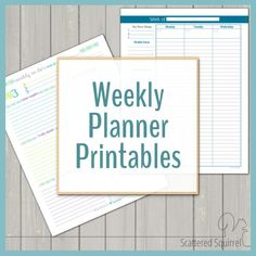 Weekly planner printables are a great addition to a personal planner, command center, or as a way to keep track of all the things you need to do each week.
