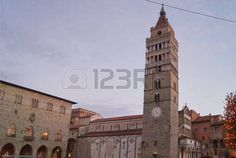 Bell tower of the Cathedral of Saint Zeno, Pistoia, Italy