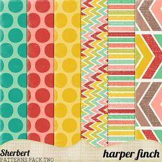 Sherbert Patterns Pack Two by harperfinch.deviantart.com on @deviantART