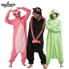 7ad6b67a12 Cartoon Animals Onesies Polar Fleece Kigurumi Women Men Couple Funny Pajama  Adult 28 Models Festival Party