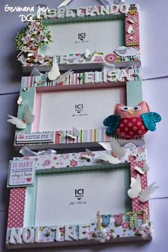 home projects diy Frame Crafts, Diy Frame, Fun Crafts, Homemade Gifts, Diy Gifts, Baby Scrapbook, Home And Deco, Recycled Crafts, Paper Gifts