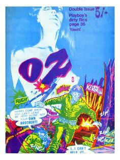 Oz number 8, Magazine Cover, 1960s