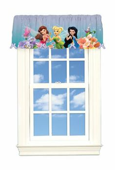 Disney Fairies Dew Drops and Sparkles Microfiber Valance by Disney. $11.88. Measures 50-inch by 17-inch with 3-inch rod pocket. Features tinkerbell and her fairy friends. Machine wash cold. Non-chlorine bleach when necessary. Tumble dry low. Warm iron if needed. Made of 100-percent polyester microfiber exclusive of decoration. Decorate your daughters room with this beautiful Tinkerbell Dew Drops and Sparkles poly satin valance. Made of 100-Percent polyester and embellished with ...