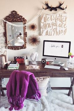 Whether you have a nook or an entire room, creating a home office is a great way to stay organized, and surround yourself with everything that keeps you motivated!