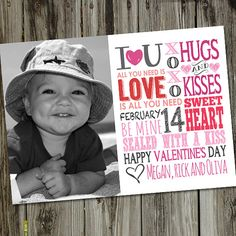 Valentine Subway Art Printable Valentine Photo Card