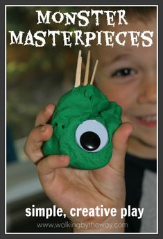 Monster Play-doh Creations from Walking by the Way