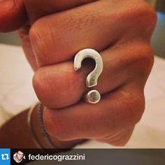 Federico Grazzini, super Dj and friend shows his Question Ring.