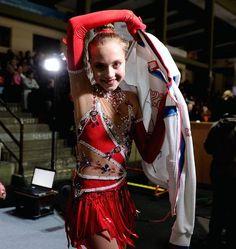Elena Radionova, Ladies free at Nebelhorn Trophy 2013, Red Figure Skating / Ice Skating dress inspiration for Sk8 Gr8 Designs