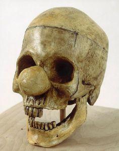 Vik Muniz, Clown Skull, 1987 (reminds me of Yorick....alas!)