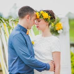 This styled shoot is full of elegant and vibrant yellow wedding ideas, a gorgeous couple and lots of wedding ideas.