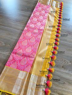 Saree Tassels Designs, Saree Kuchu Designs, Silk Saree Blouse Designs, Fancy Blouse Designs, Bridal Blouse Designs, Kanjivaram Sarees Silk, Latest Silk Sarees, Silk Sarees Online Shopping, Wedding Silk Saree