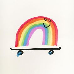 Uploaded by Ɗaωƞ ℱཞoՏt ️. Find images and videos about art and rainbow on We Heart It - the app to get lost in what you love. Rainbow Paper, Rainbow Art, Rainbow Images, Illustration Inspiration, Cute Illustration, Photo Wall Collage, Collage Art, Dallas Clayton, December Wallpaper