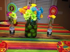 Pretty wedding favor as well mexican fiesta centerpieces. Marvelous wedding bracelets pertaining to mexican fiesta centerpieces. Fiesta Party Centerpieces, Lime Centerpiece, Mexican Party Decorations, Centerpiece Ideas, Mexican Fiesta Birthday Party, Fiesta Theme Party, Mexican Celebrations, Baby Shower, Bridal Shower