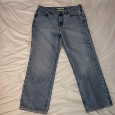 Tommy Hilfiger hipster cropped jeans Tommy Hilfiger hipster faded cropped jeans.  These are so cute!  Wish they still fit! Tommy Hilfiger Jeans Ankle & Cropped
