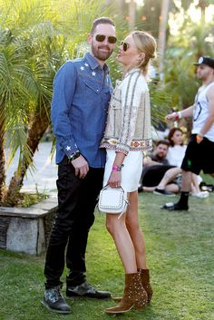 Michael Polish and Kate Bosworth @ coachella 2015