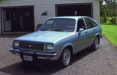 1981 Chevy Chevette four-door...my first car but an 85, same color:)