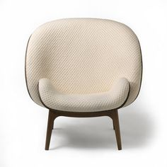 Bergere fabric armchair HUG by PERROUIN SIEGES design Jean Marc Gady