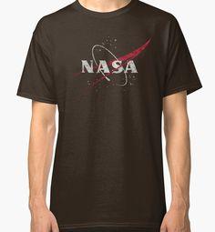"""Nasa Vintage Emblem - Cristal Edition"" Classic T-Shirts by Lidra | Redbubble"